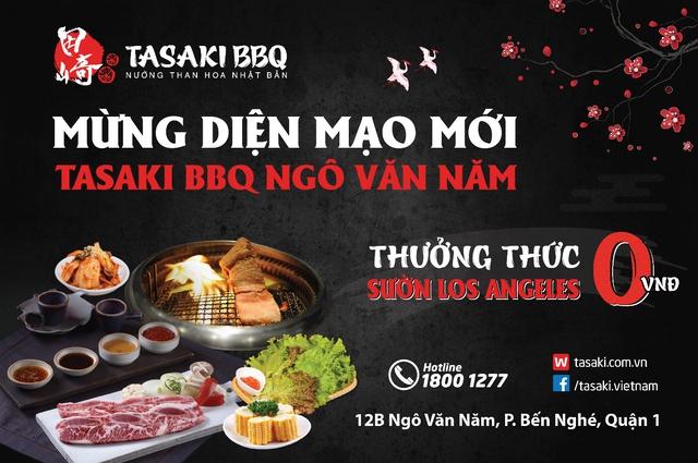 Sự trở lại của Tasaki BBQ Ngô Văn Năm với nhiều ưu đãi hấp dẫn - Ảnh 1.
