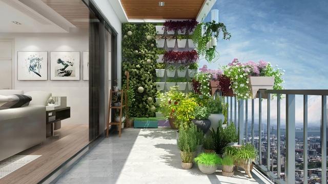 Mỗi góc nhỏ của căn phòng đều đảm bảo đón nắng gió tự nhiên, cùng tầm nhìn rộng hướng ra công viên xanh, thoáng đãng.
