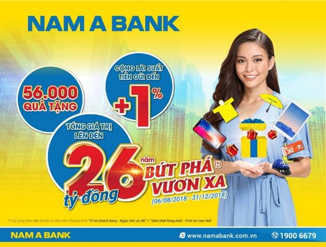 Nam A Bank dành 26 tỷ đồng tri ân khách hàng - Ảnh 1.