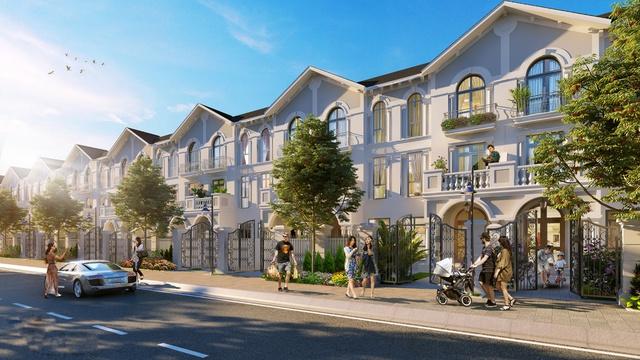 Nhà liền kề tại tiểu khu Tulip dự án Vinhomes Riverside – The Harmony.
