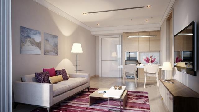 Thiết kế nội thất đẹp mắt của Coco Skyline Resort.