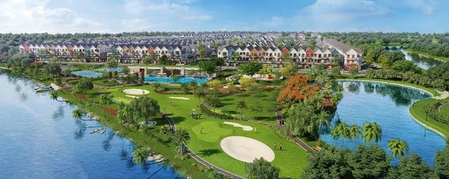 Sống xanh với diện tích công viên cây xanh và mặt nước lớn là một xu hướng bền vững.