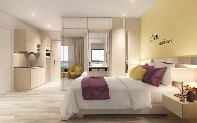 Thiết kế nội thất trẻ trung, sang trọng của Coco Skyline Resort.