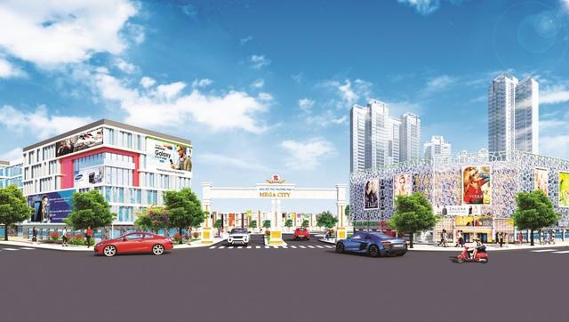 Nằm ngay trung tâm hành chính thị xã Bến Cát và liền kề nhiều khu công nghiệp lớn, Mega City tích hợp cơ hội kinh doanh hấp dẫn.