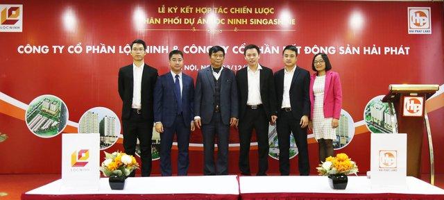Buổi lễ ký kết hợp tác chiến lược phân phối dự án Lộc Ninh Singashine đã thành công tốt đẹp.