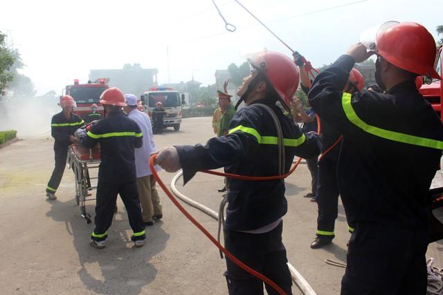 Thái Nguyên: Diễn tập phương án phòng cháy chữa cháy tại chung cư Tiến Bộ - Ảnh 2.