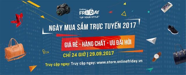 Muốn săn hàng hiệu giá rẻ thì đừng bỏ lỡ Online Friday2017 - Ảnh 1.