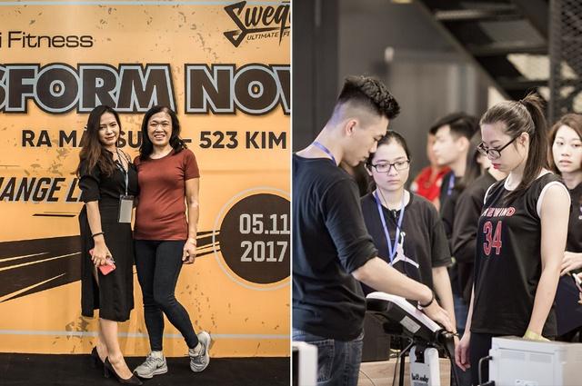 Tùng Sơn, Trang Lou, Ba Duy thử sức với chương trình tập gym chuẩn quốc tế - Ảnh 2.