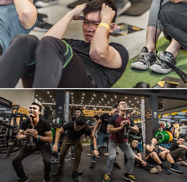 Tùng Sơn, Trang Lou, Ba Duy thử sức với chương trình tập gym chuẩn quốc tế - Ảnh 12.