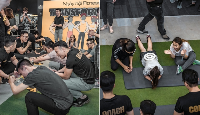 Tùng Sơn, Trang Lou, Ba Duy thử sức với chương trình tập gym chuẩn quốc tế - Ảnh 14.
