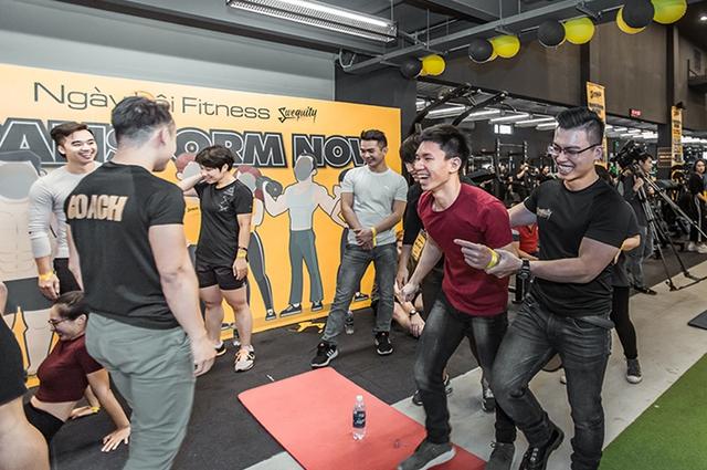 Tùng Sơn, Trang Lou, Ba Duy thử sức với chương trình tập gym chuẩn quốc tế - Ảnh 17.