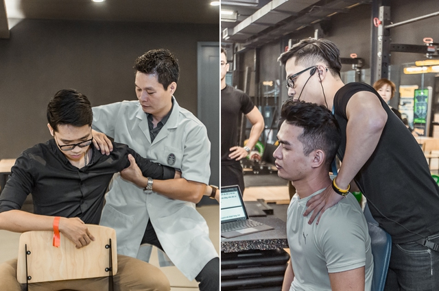 Tùng Sơn, Trang Lou, Ba Duy thử sức với chương trình tập gym chuẩn quốc tế - Ảnh 18.