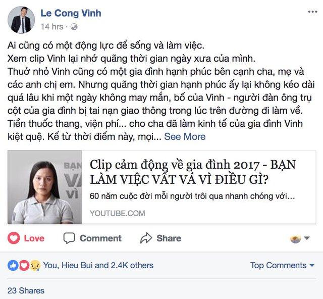 Clip lấy nước mắt của 2 ông bố nổi tiếng showbiz Việt: Công Vinh, Lý Hải - Ảnh 5.