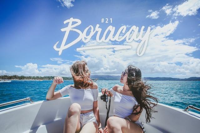 Theo chân hai cô bạn xinh đẹp khám phá thiên đường biển Boracay - Ảnh 1.