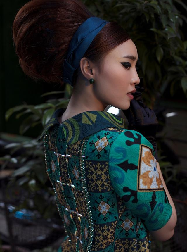 Cặp đôi mỹ nhân Cô ba Sài Gòn đẹp hoài cổ với trang phục của Thuỷ Design House - ảnh 7