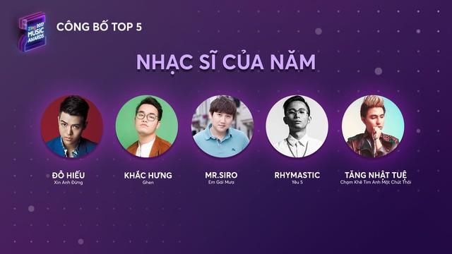 Top 5 Zing Music Awards 2017 chính thức lộ diện - Ảnh 6.