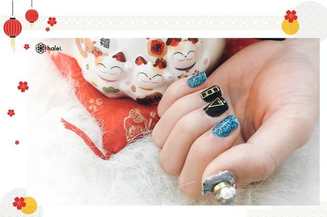 """Đón Tết long lanh cùng bộ sưu tập nail """"Mèo Thần Tài"""" cực cute - Ảnh 10."""