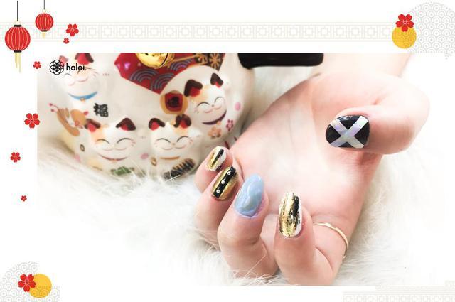 """Đón Tết long lanh cùng bộ sưu tập nail """"Mèo Thần Tài"""" cực cute - Ảnh 12."""