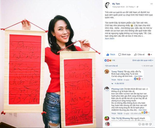 Mỹ Tâm và loạt sao đồng loạt nhuộm đỏ Facebook bằng những status Tết cực dễ thương! - Ảnh 1.