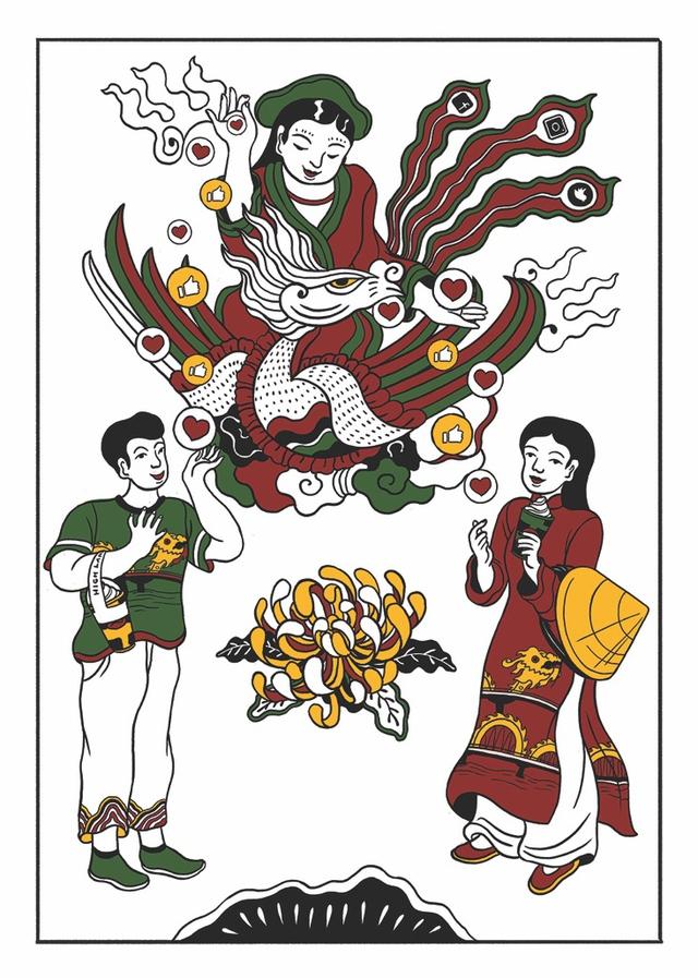 """""""Đương đại hóa tranh Đông Hồ"""" – Nơi nghệ nhân cùng giới trẻ chung tay lưu giữ bản sắc Việt - Ảnh 7."""