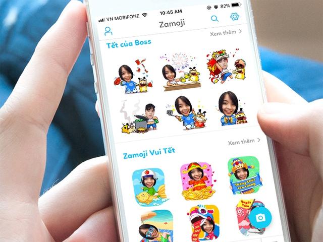Tự tạo sticker chúc Tết bằng ảnh cá nhân với Zamoji - Ảnh 2.