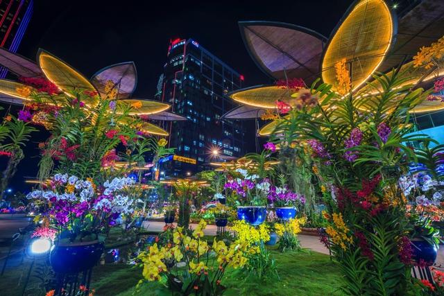 Mãn nhãn đường hoa Nguyễn Huệ đẹp rực rỡ ngày đầu năm - Ảnh 11.