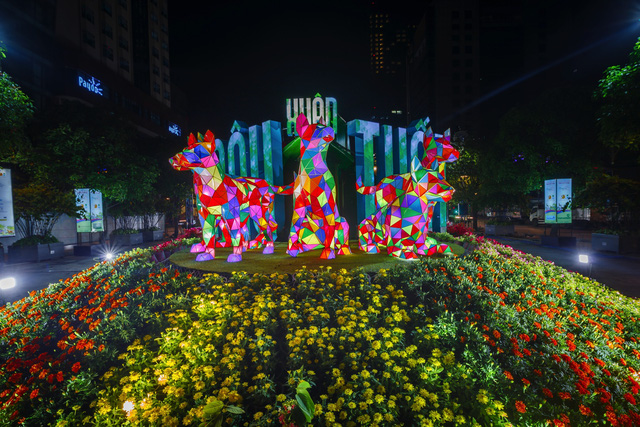 Mãn nhãn đường hoa Nguyễn Huệ đẹp rực rỡ ngày đầu năm - Ảnh 13.