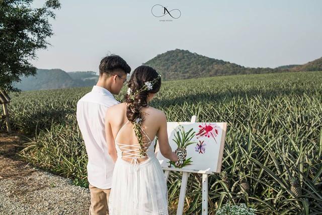 """Dân tình phát sốt với bộ ảnh cưới trong trẻo """"Vẽ giấc mơ tình yêu"""" trên cánh đồng dứa Ninh Bình - Ảnh 14."""
