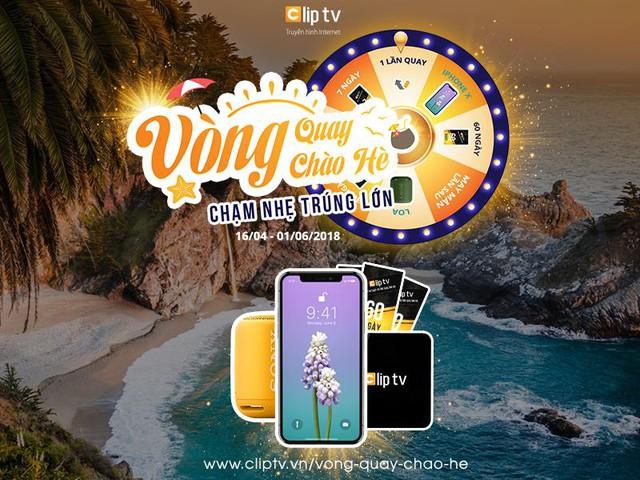Cơ hội nhận iPhone X cùng hàng trăm quà tặng hấp dẫn khác tới người dùng dịch vụ Clip TV - Ảnh 1.