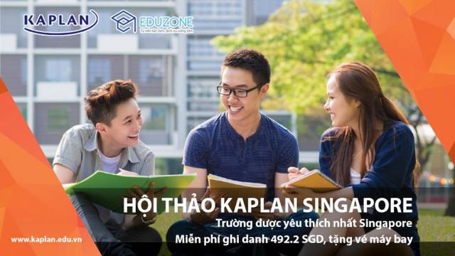 Gặp gỡ trực tiếp đại diện học viện Kaplan tại hội thảo du học Singapore - Ảnh 1.