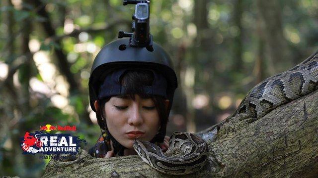 Đứng cạnh Kim Nhã nhưng Lâm Vinh Hải nhất quyết chọn… hôn môi với trăn to - Ảnh 3.