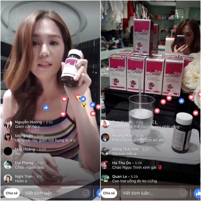 Ngọc Trinh livestream chia sẻ bí quyết giảm cân từ Pháp - Ảnh 1.