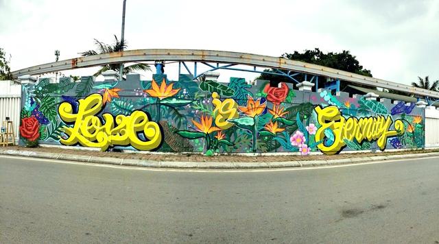 Giới trẻ Hà thành thi nhau check-in ở bức tường Hoa Thiên Điểu trên phố đi bộ Trịnh Công Sơn - Ảnh 1.