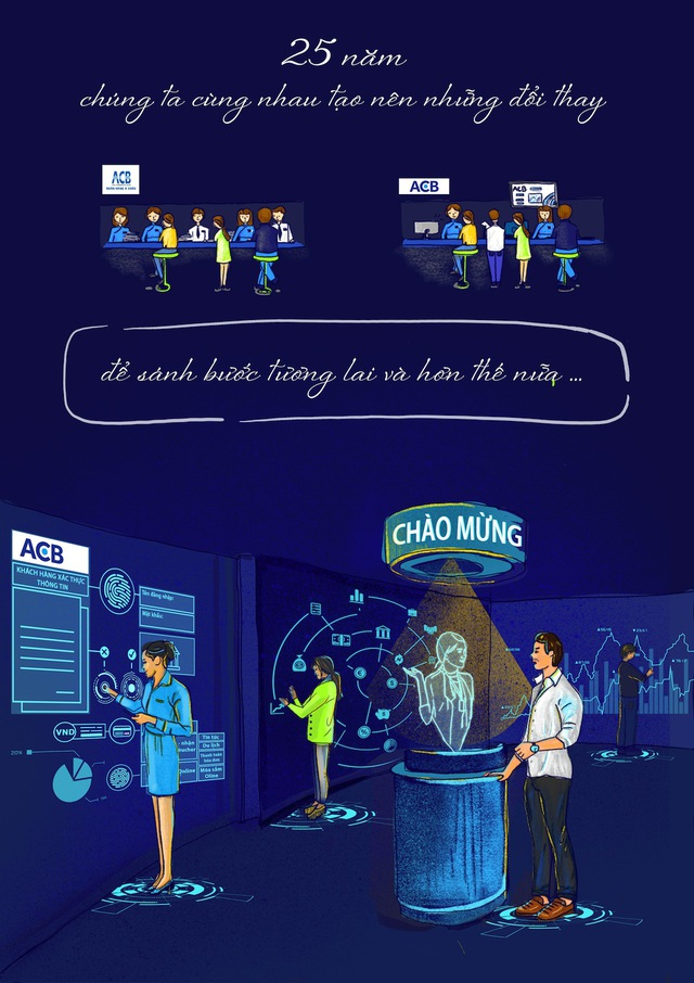 Bộ tranh vẽ độc đáo về tương lai ngành ngân hàng - Ảnh 6.