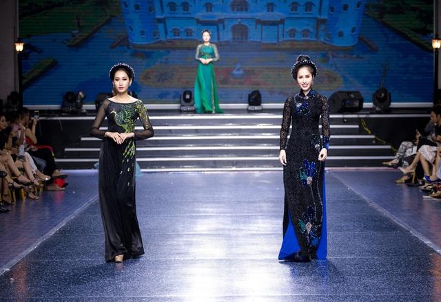 Tường Linh The Face xuất hiện ấn tượng, làm vedette trong show Áo Dài Hoà Vi - Ảnh 1.