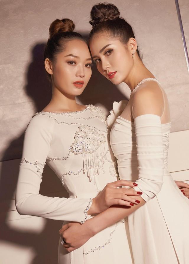 Tường Linh The Face xuất hiện ấn tượng, làm vedette trong show Áo Dài Hoà Vi - Ảnh 7.