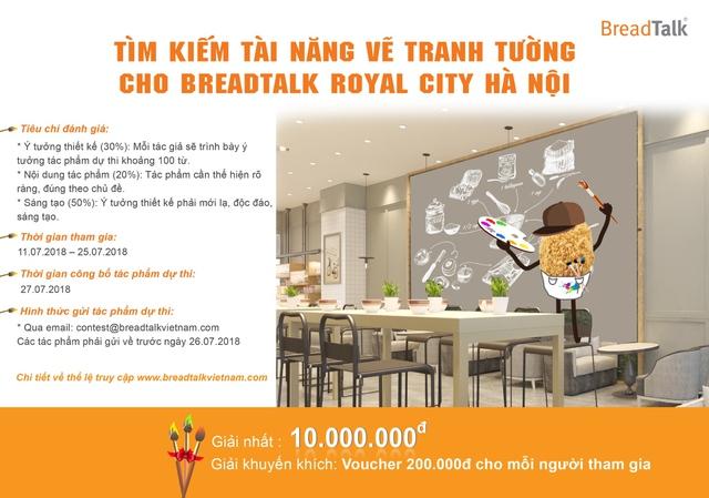 Khám phá cơ hội siêu hấp dẫn cho các bạn yêu hội họa cùng BreadTalk Royal City Hà Nội - ảnh 2