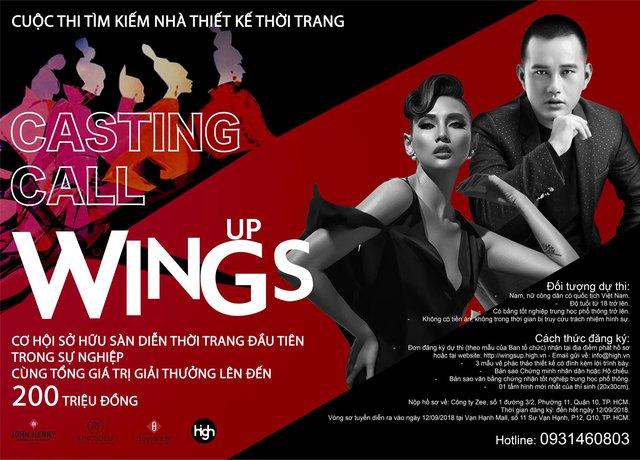 """Võ Hoàng Yến đụng độ Lê Thanh Hòa trên ghế nóng cuộc thi tìm kiếm nhà thiết kế trẻ """"Wings Up"""" - ảnh 1"""