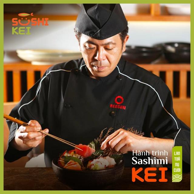 Kinh ngạc với cá ngừ khổng lồ 80kg cùng màn trình diễn chế biến chuyên nghiệp ngay tại nhà hàng Nhật - Sushi Kei - ảnh 4
