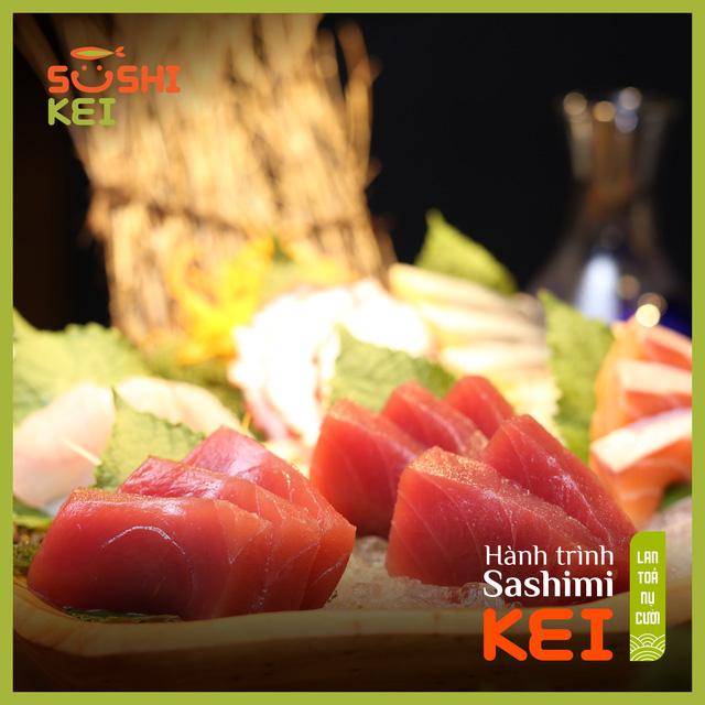 Kinh ngạc với cá ngừ khổng lồ 80kg cùng màn trình diễn chế biến chuyên nghiệp ngay tại nhà hàng Nhật - Sushi Kei - ảnh 5