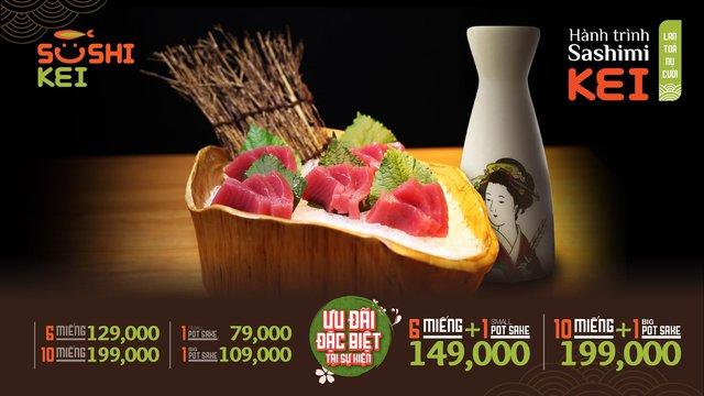 Kinh ngạc với cá ngừ khổng lồ 80kg cùng màn trình diễn chế biến chuyên nghiệp ngay tại nhà hàng Nhật - Sushi Kei - ảnh 8