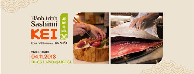 Kinh ngạc với cá ngừ khổng lồ 80kg cùng màn trình diễn chế biến chuyên nghiệp ngay tại nhà hàng Nhật - Sushi Kei - ảnh 10