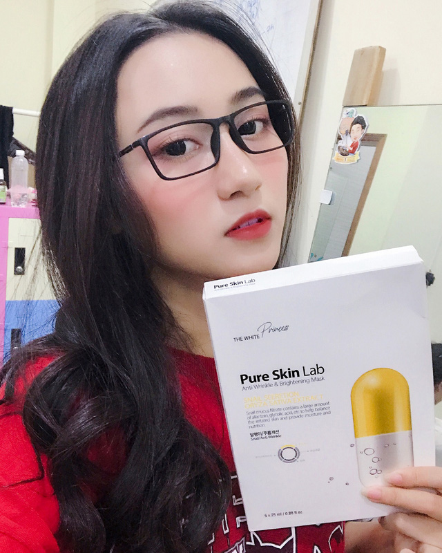 Image result for Mặt Nạ The White Princess Pure Skin Lab vàng