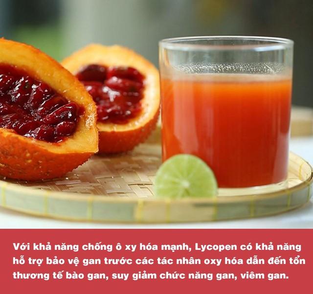 Chứa hàm lượng dưỡng chất cao gấp nhiều lần cà chua, cà rốt; gấc chính là thực phẩm vàng dành cho lá gan - Ảnh 5.