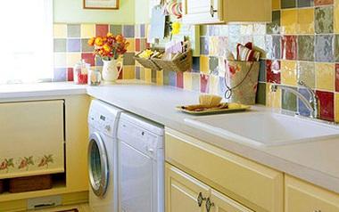 Chẳng lo nhà chật khi đã có cách bố trí máy giặt thông minh sau