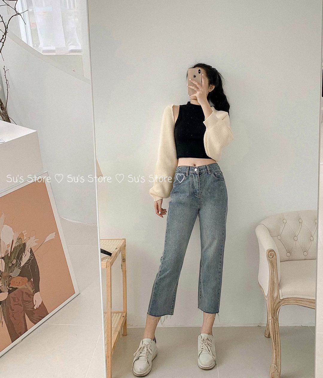 10 set đồ với quần jeans đáng sắm nhất tại các shop lúc này, giá cả thì cực kỳ yêu thương - Ảnh 2.