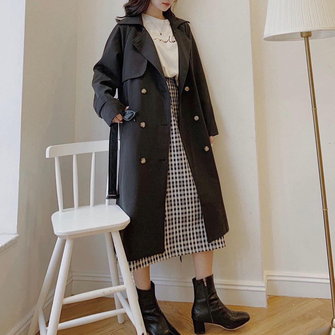 Sắm trench coat lúc này là đúng đắn nhất, lên đồ đơn giản cỡ nào cũng sang chảnh hay ho như gái Hàn - Ảnh 9.