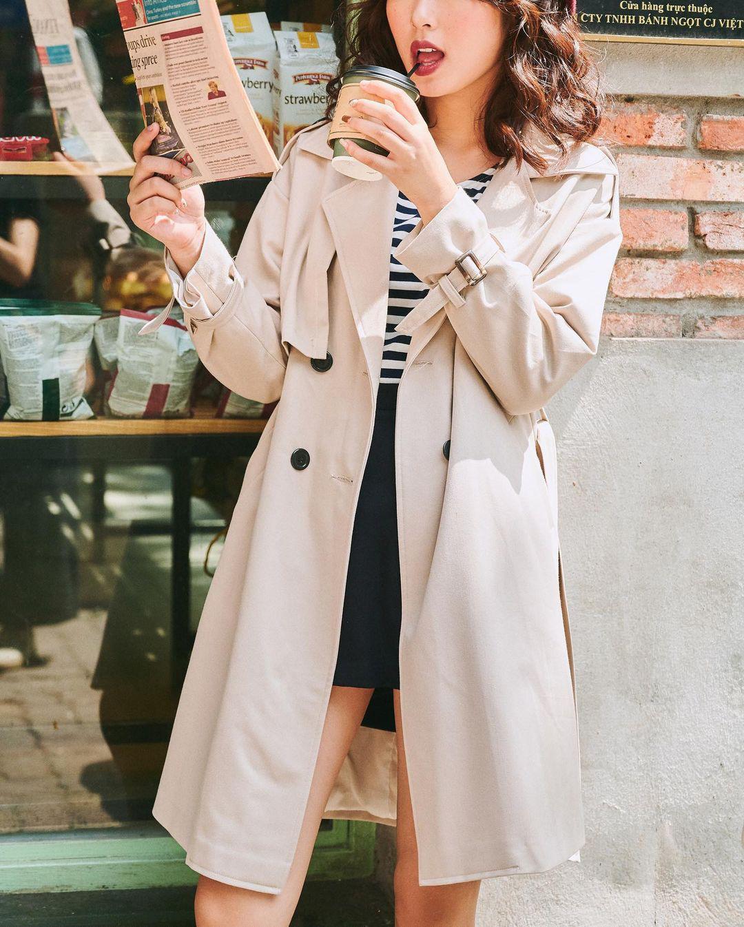 Sắm trench coat lúc này là đúng đắn nhất, lên đồ đơn giản cỡ nào cũng sang chảnh hay ho như gái Hàn - Ảnh 7.