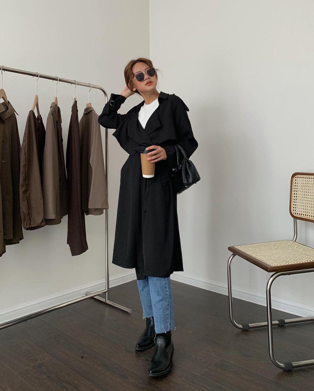 Sắm trench coat lúc này là đúng đắn nhất, lên đồ đơn giản cỡ nào cũng sang chảnh hay ho như gái Hàn - Ảnh 8.