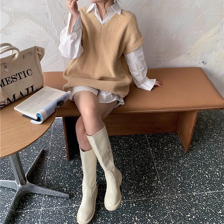 Sắm áo màu be, style của bạn chỉ có thanh lịch như gái Pháp hoặc sang xịn như gái Hàn trở lên - Ảnh 15.